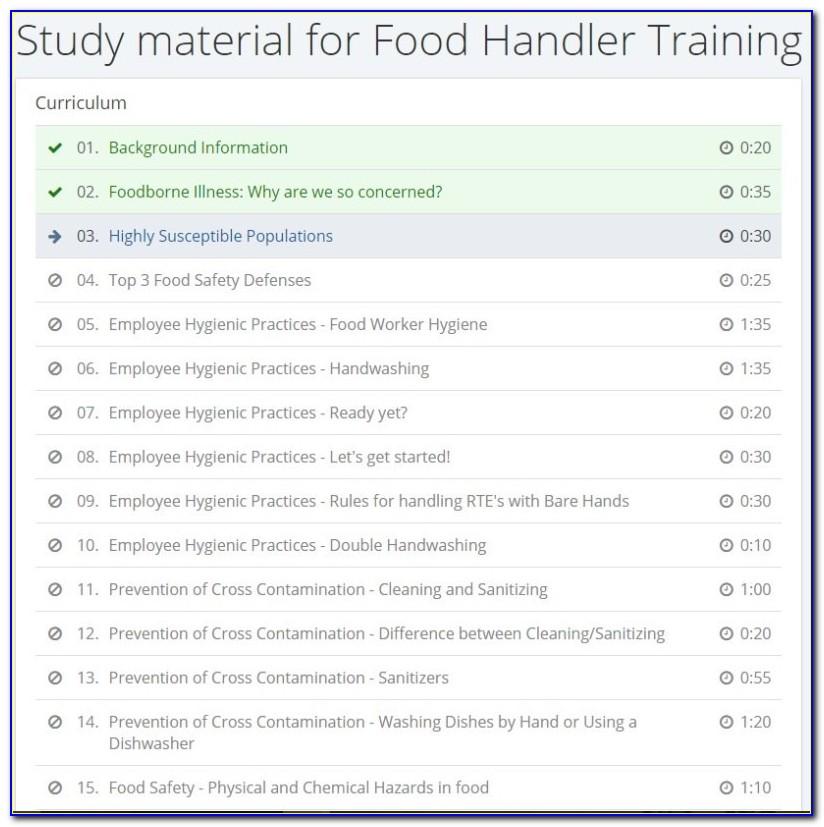 Food Handler Certification Florida Answers