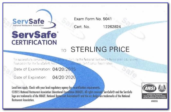 Food Handlers Certificate California Free
