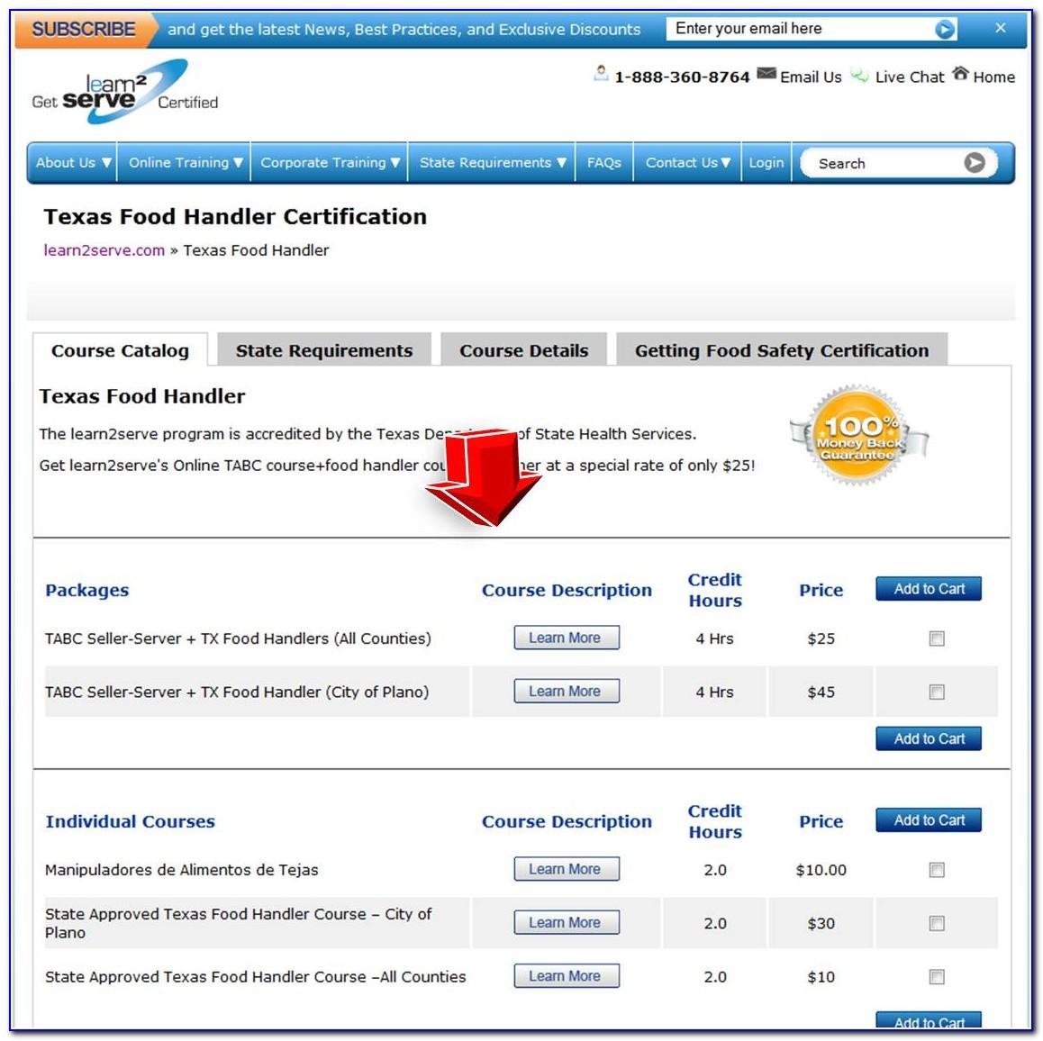 Food Handlers Certification Check