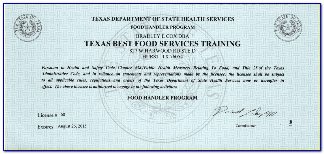 Food Service Manager License Mn