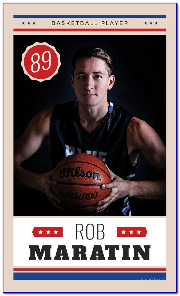 Football Trading Card Template Free