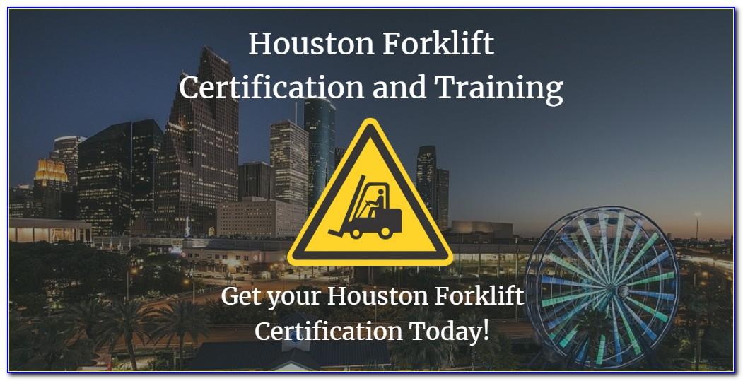 Forklift Certification Houston Texas