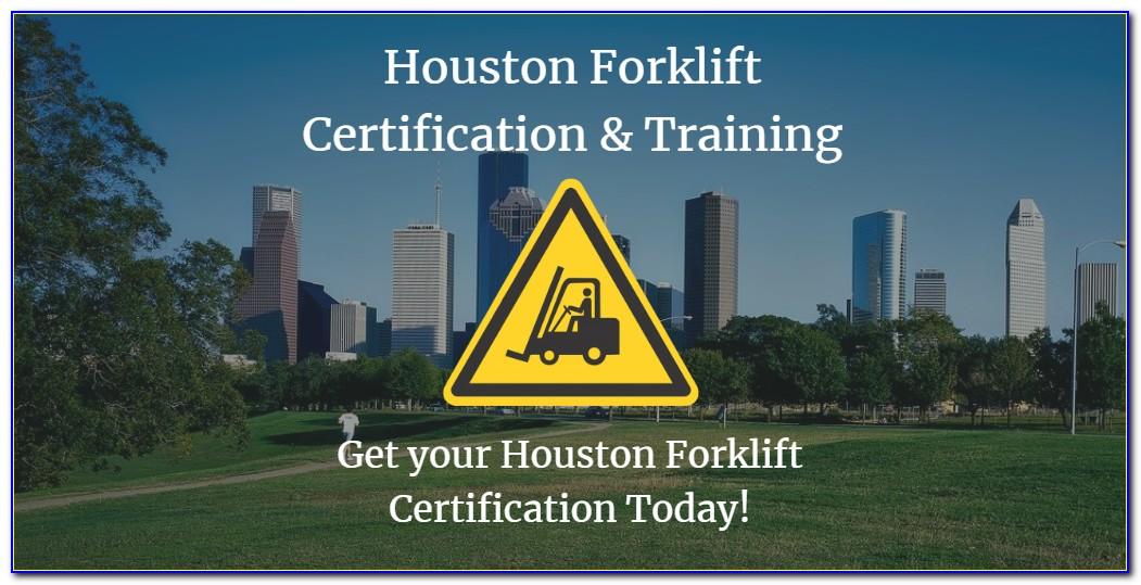 Forklift Certification Houston Tx