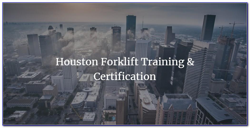 Forklift Certification Houston