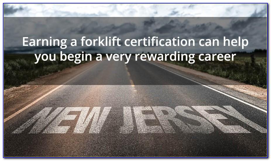 Forklift Certification Nj Cost