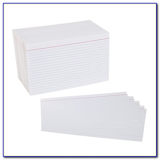 Free 5x8 Index Card Template