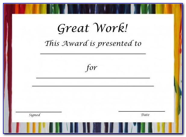 Free Blank Printable Certificates Of Achievement