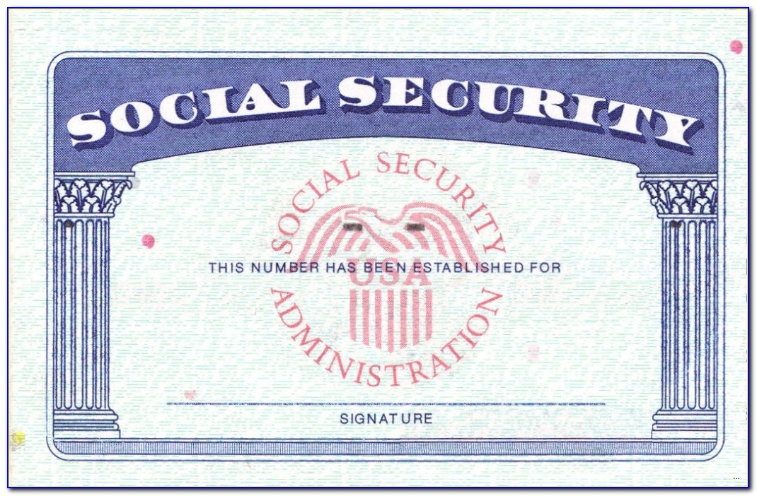 Free Blank Social Security Card Template
