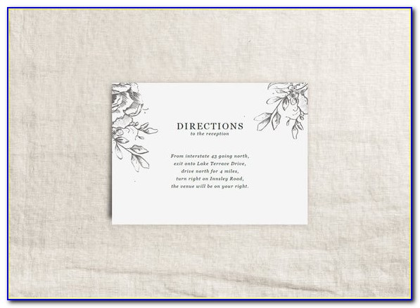 Free Direction Card Template