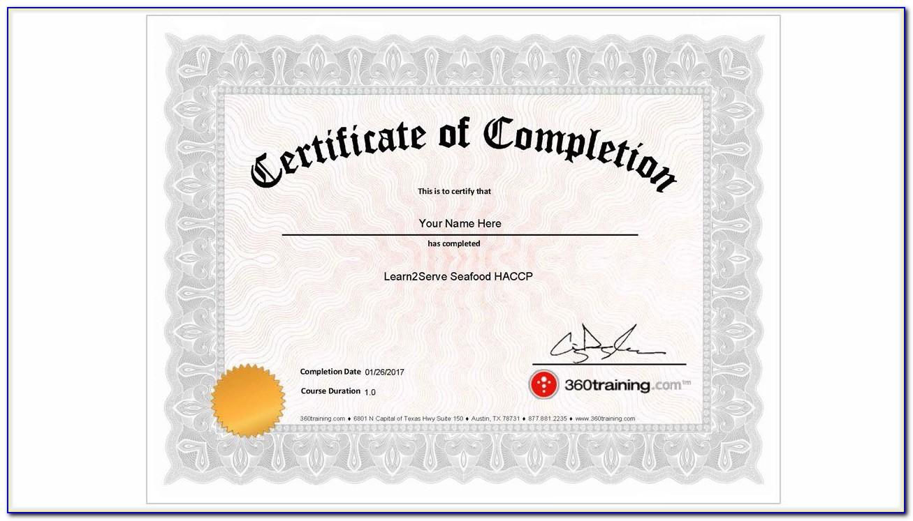 Free Food Handlers Certificate Nyc