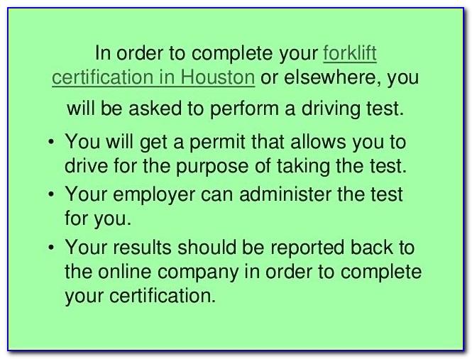 Free Forklift Certification Houston Tx