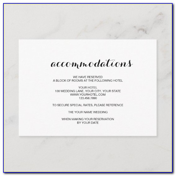 Free Hotel Accommodation Card Template