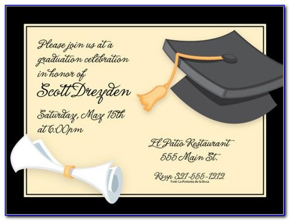Free Online Graduation Invitation Card Design