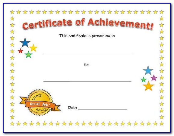 Free Printable Certificates Of Achievement For Students