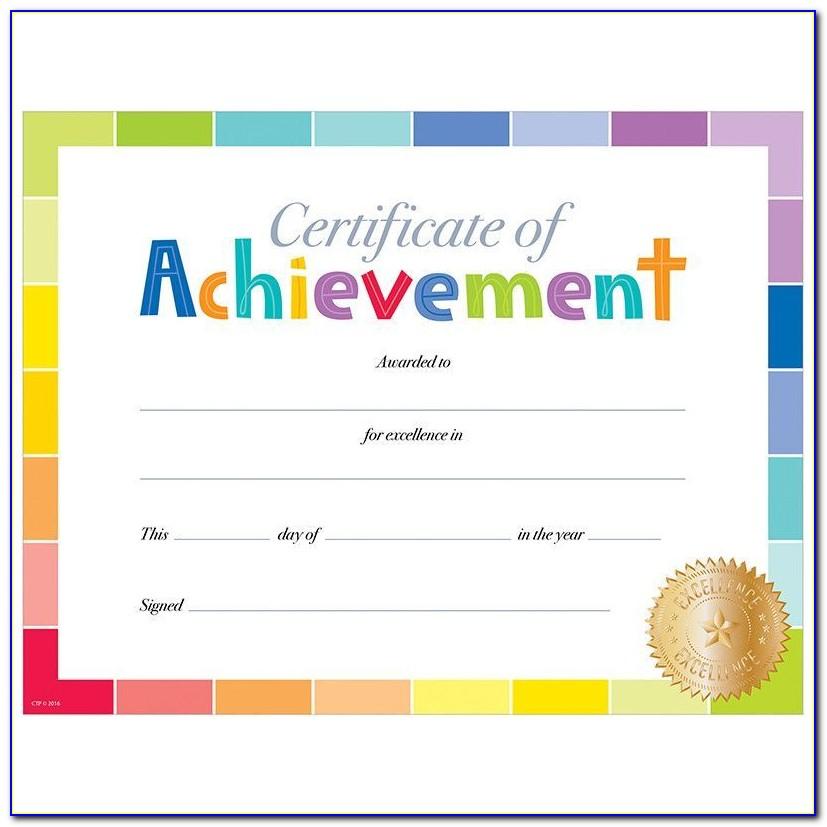 Free Printable Certificates Of Achievement Templates