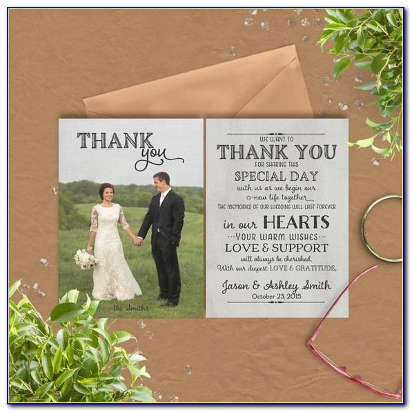 Free Wedding Thank You Cards With Photo