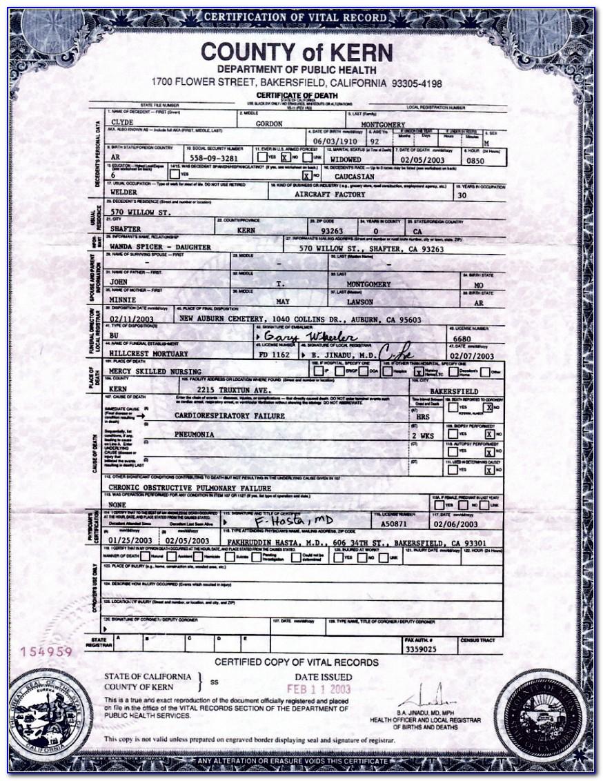 Fresno County Birth Certificate