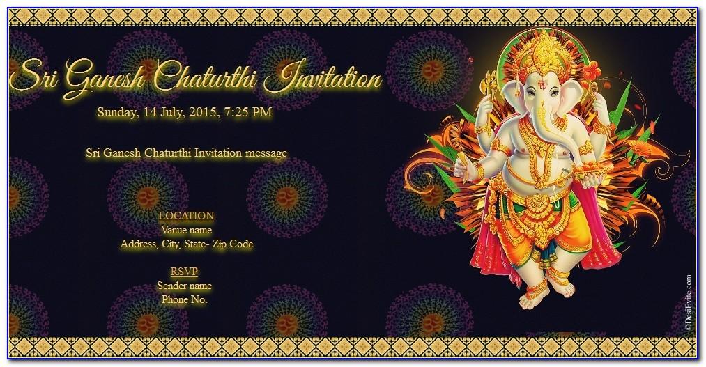Ganesh Puja Invitation Card In Hindi