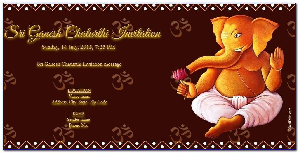 Ganesh Puja Invitation Card Online