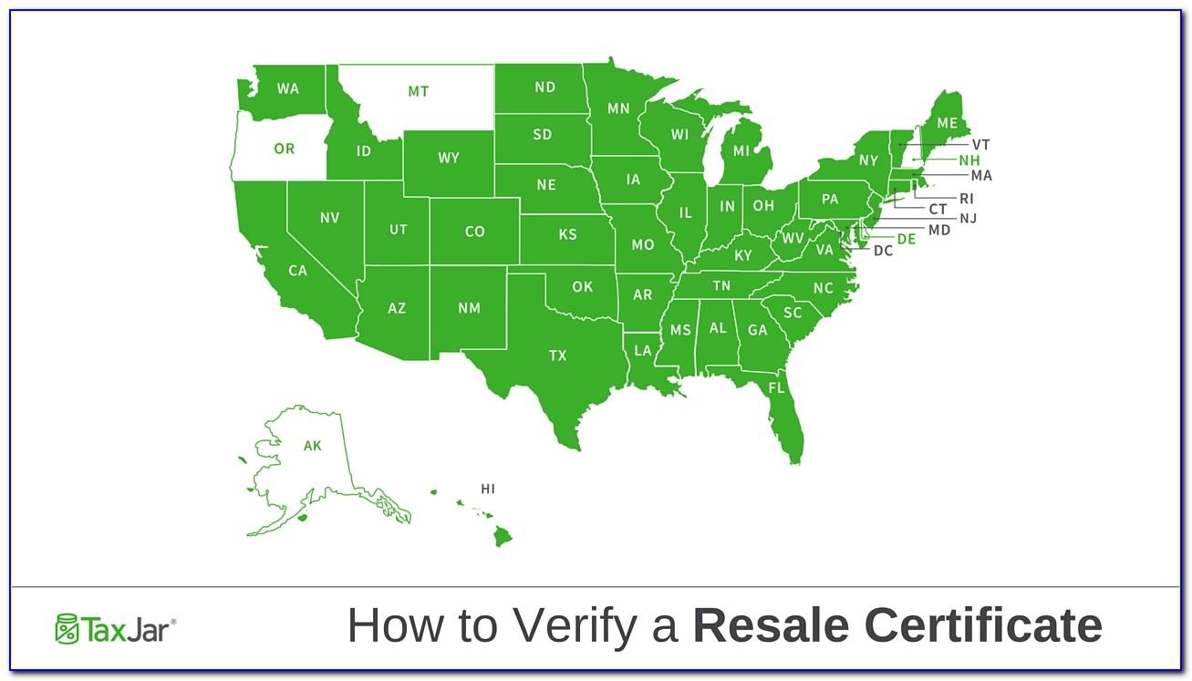 Georgia Resale Tax Certificate