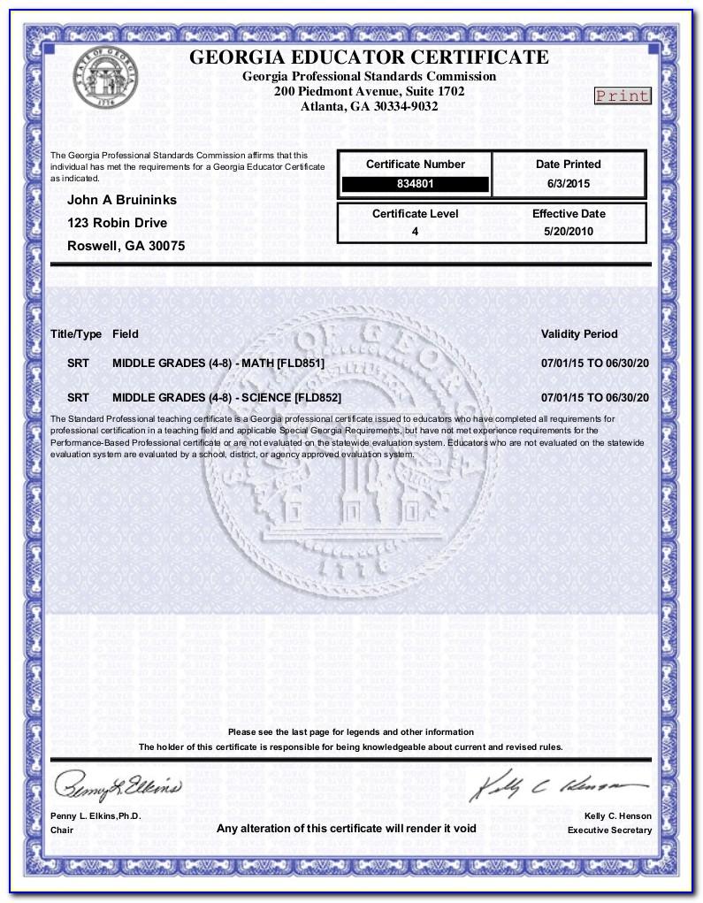 Georgia Teacher Certification Lookup