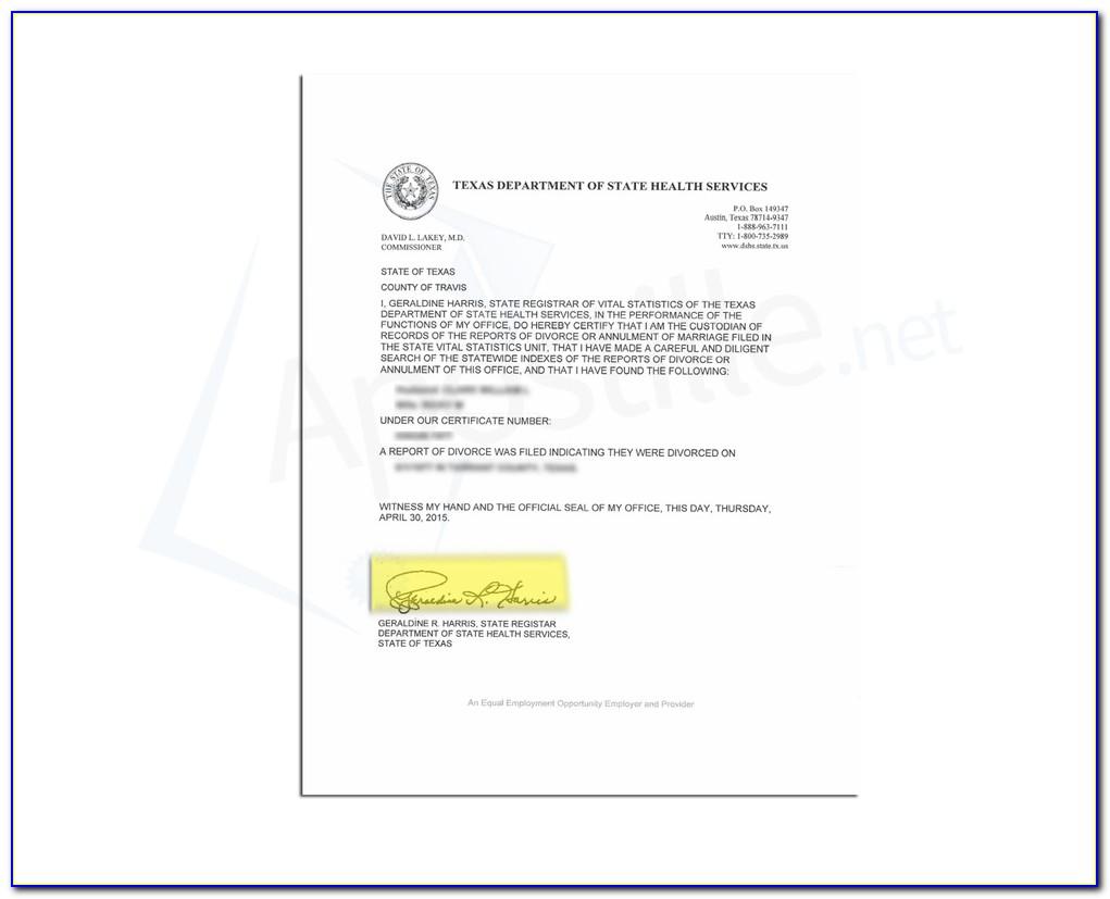 Get Birth Certificate Apostille Texas