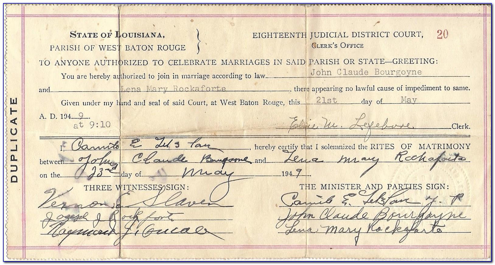 Get Birth Certificate Baton Rouge