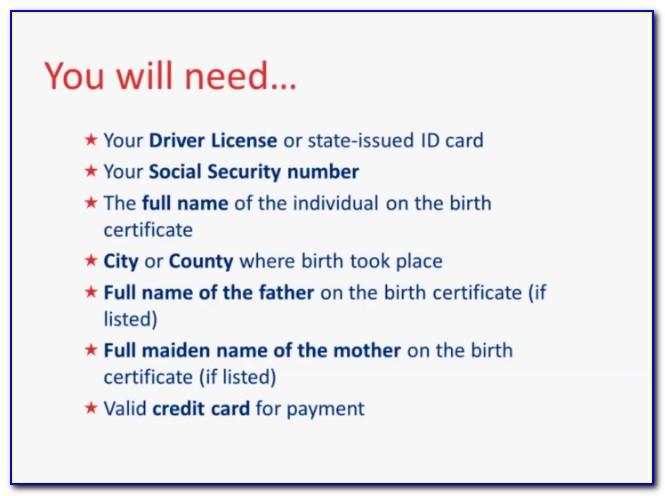 Get Birth Certificate Norwalk California