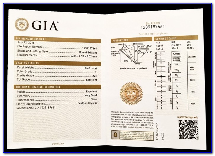Gia Certificate Search