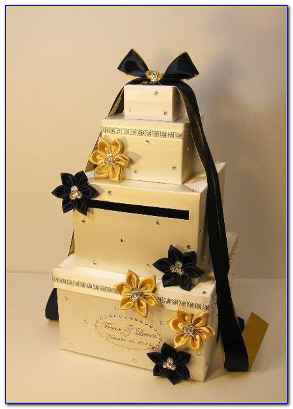 Gold Wedding Bell Place Card Holders