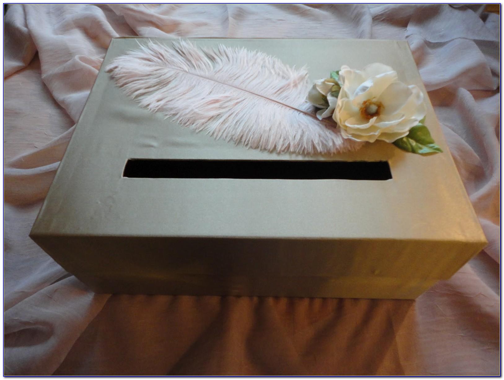 Gold Wedding Card Holder Box