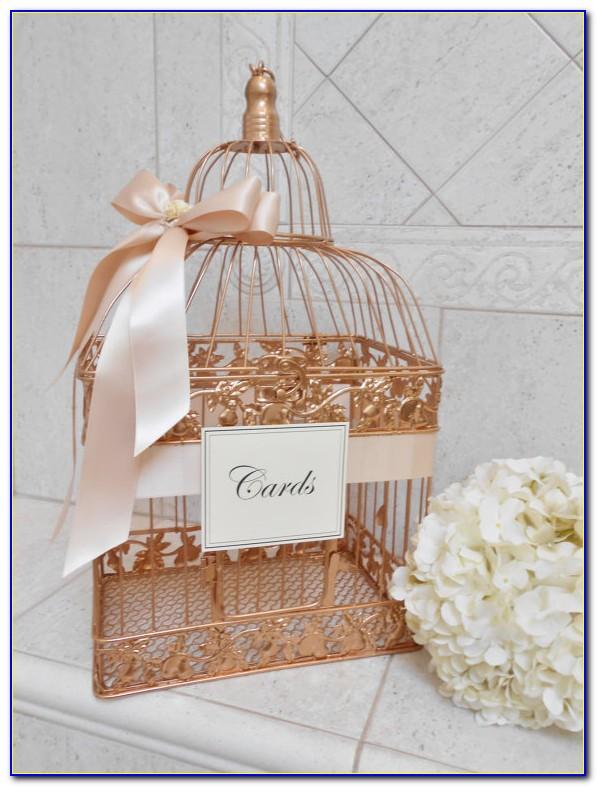 Gold Wedding Reception Gift Card Holder