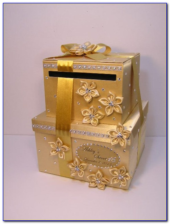Gold Wedding Table Card Holders