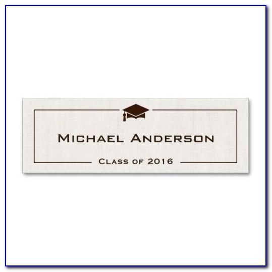 Graduation Announcements Name Cards Template