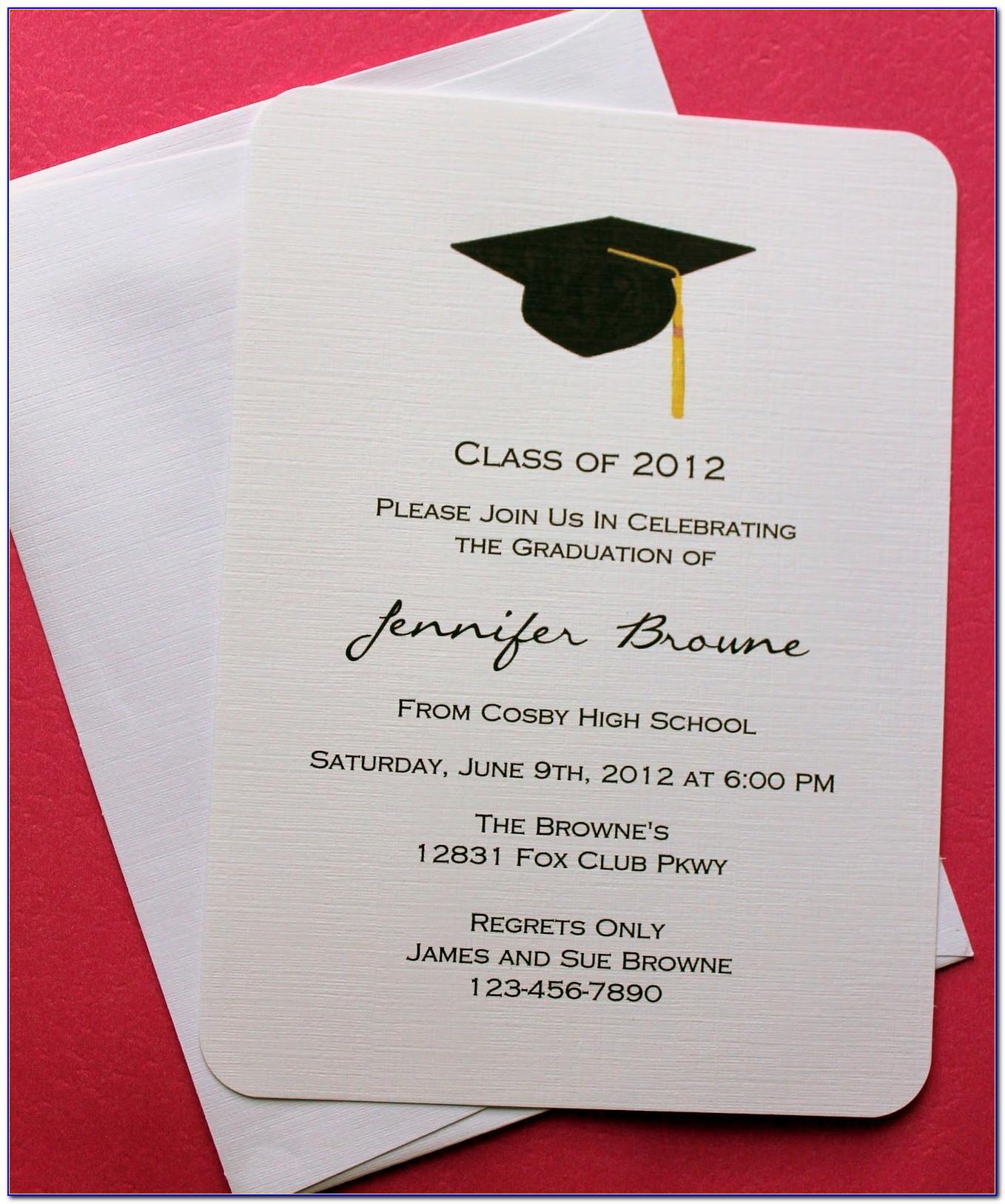 Graduation Invitation Card For Kindergarten