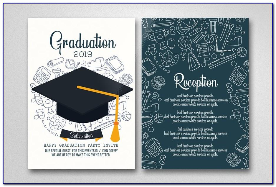 Graduation Invitation Card Sample