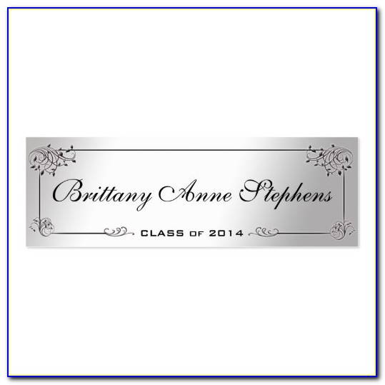 Graduation Name Card Inserts Template