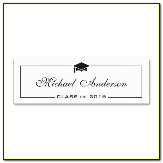 Graduation Name Cards Template Free