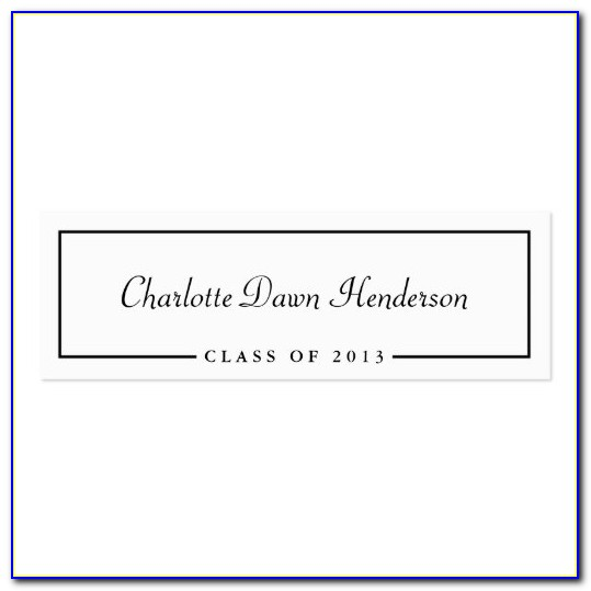 Graduation Name Cards Template Word