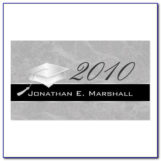 Graduation Name Cards Template