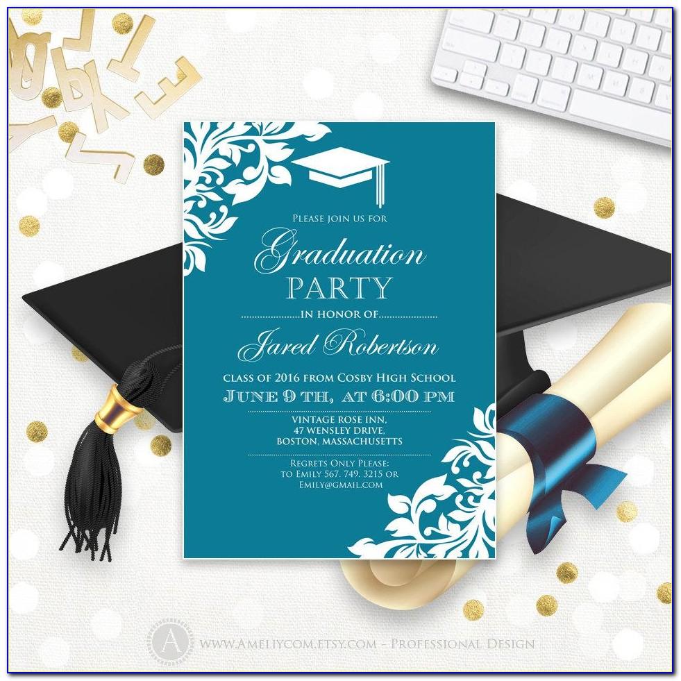 Graduation Party Invitation Card Design