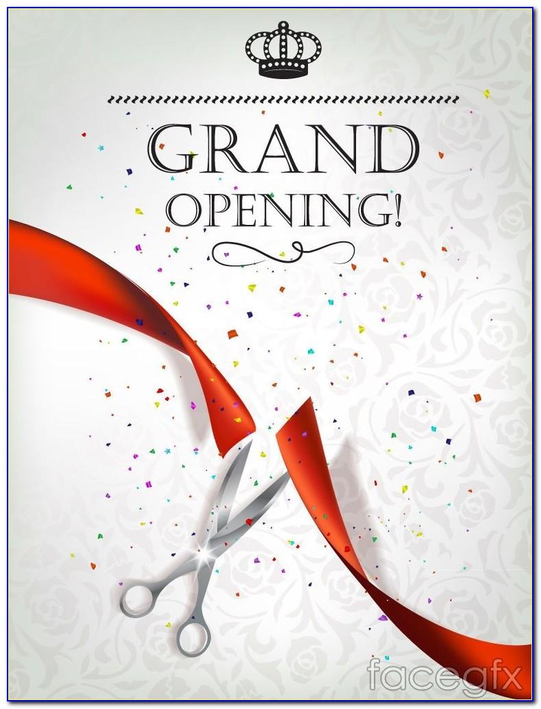 Grand Opening Invitation Card Design Online