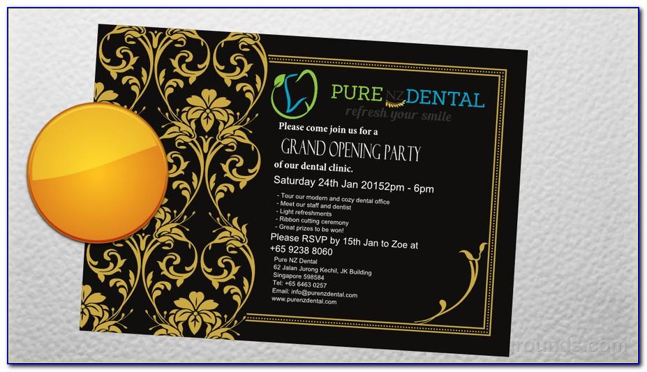 Grand Opening Invitation Card Design Vector