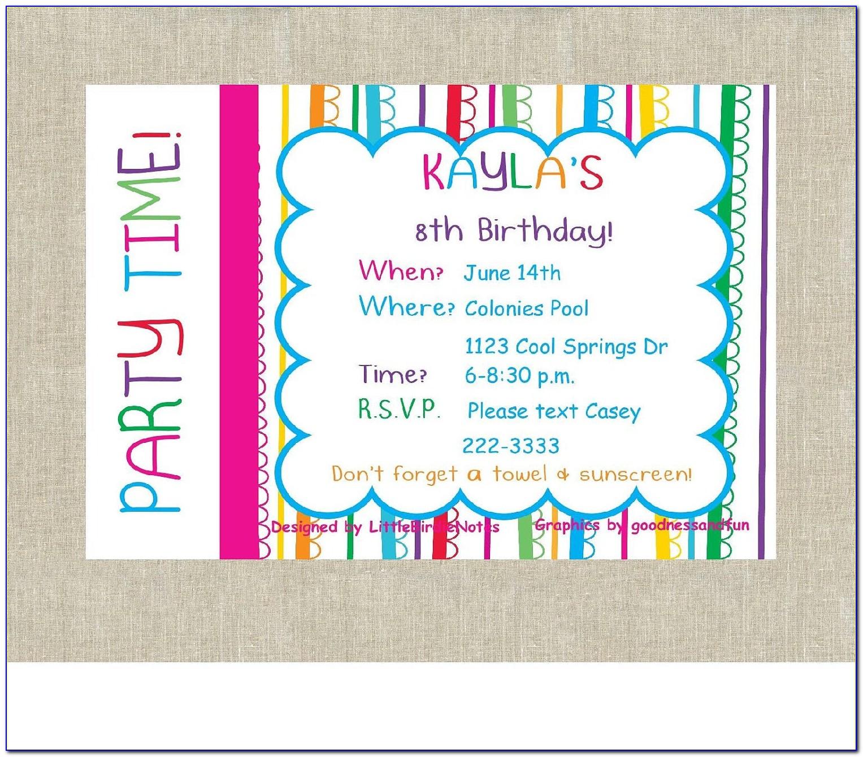 Happy Birthday Birthday Invitation Card