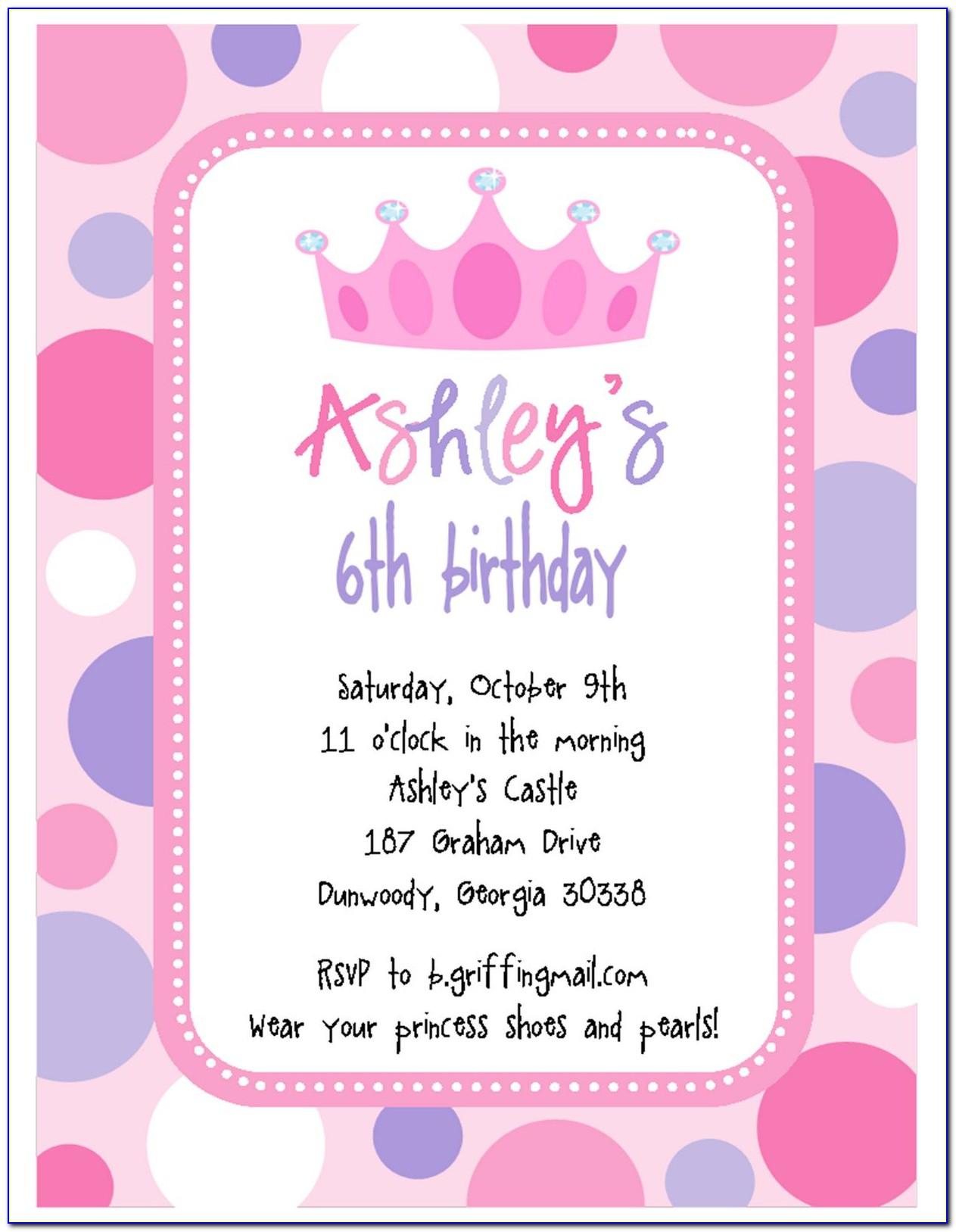 Happy Birthday Invitation Card In English
