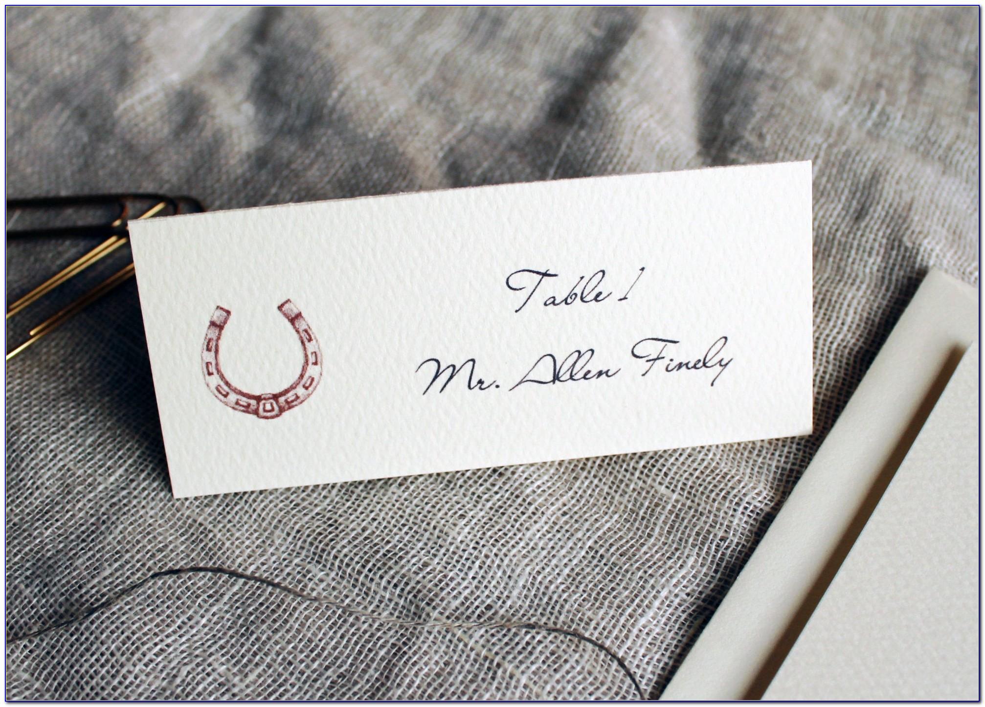 Horseshoe Wedding Place Card Holders