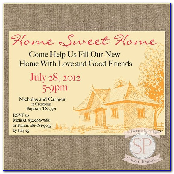 House Blessing Invitation Card