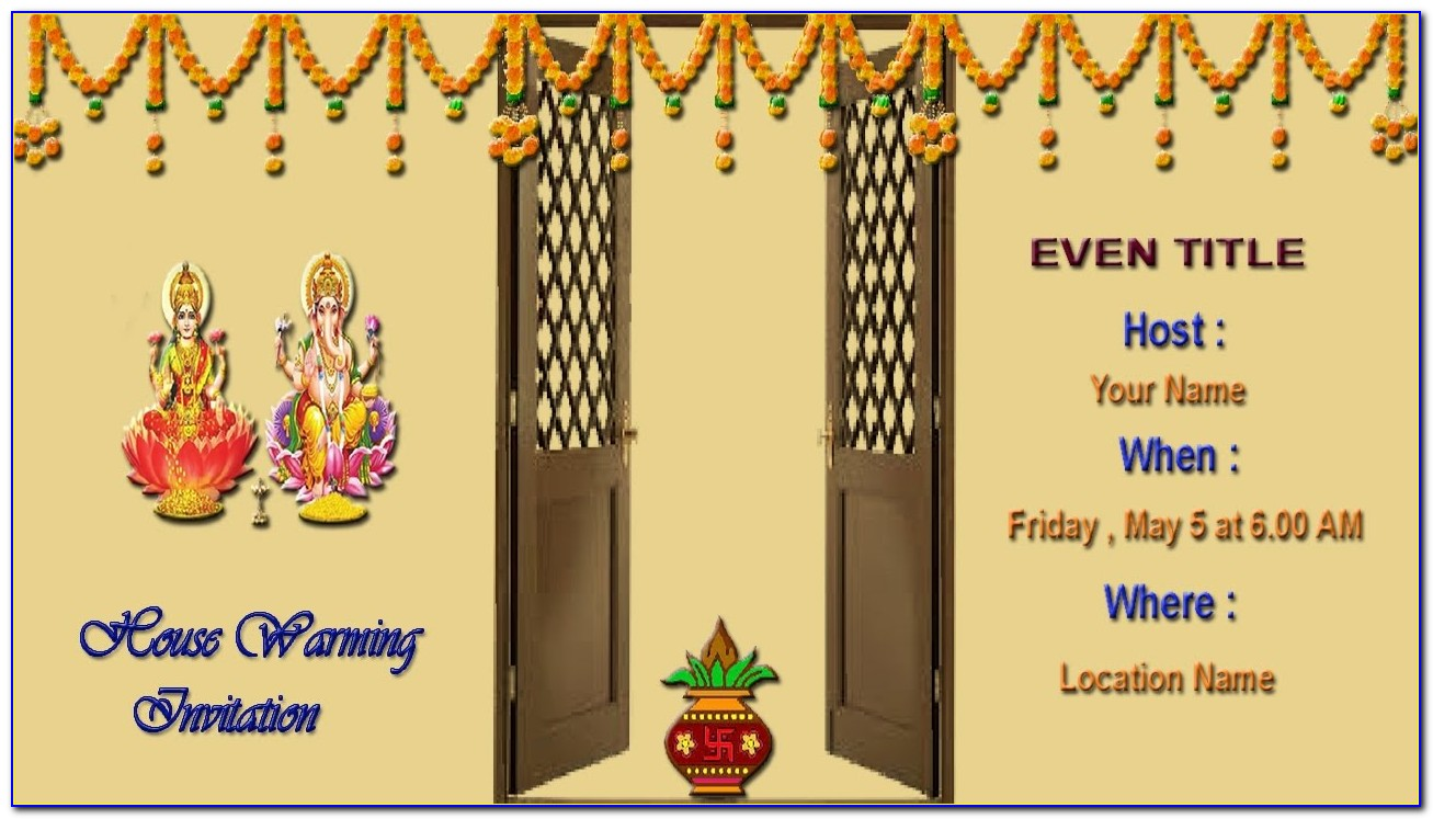 House Warming Invitation Card India Free