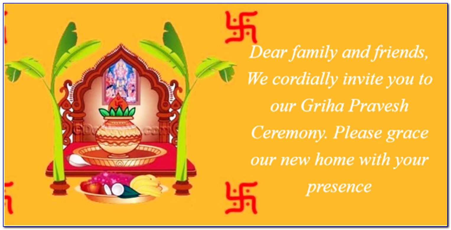 House Warming Invitation Card Indian