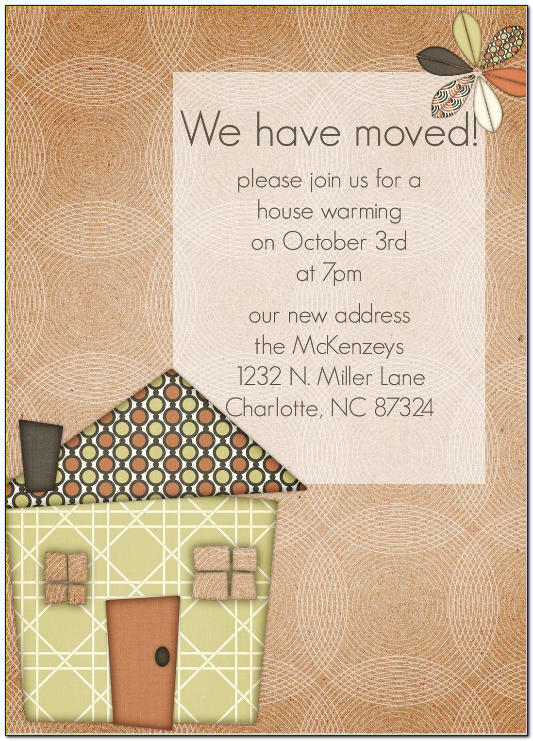 House Warming Invitation Card Template Free